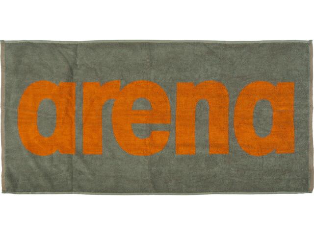 arena Gym Soft Towel army-tangerine